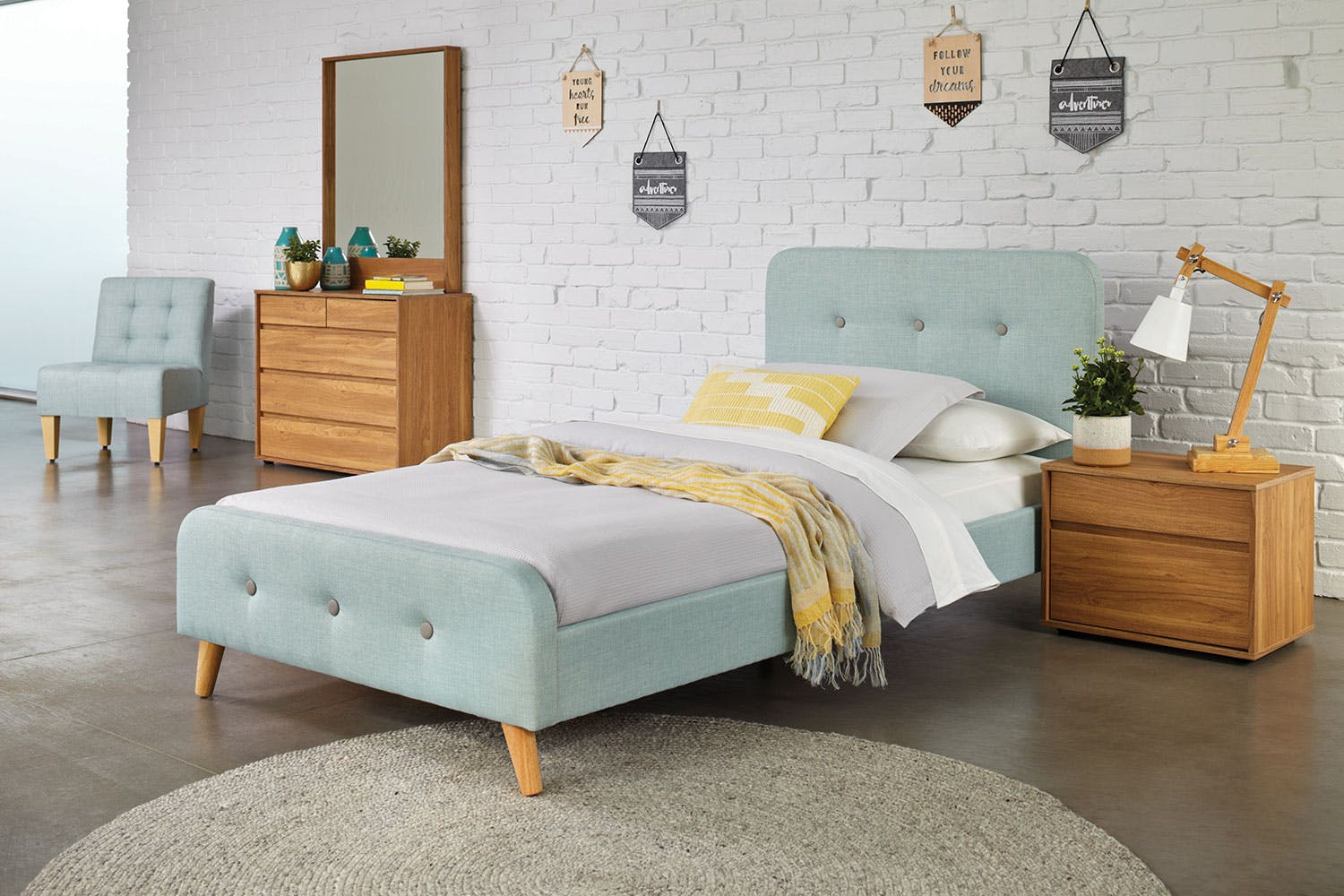a6cb73be4 Blue Calypso King Single Bed Frame by Nero Furniture ...