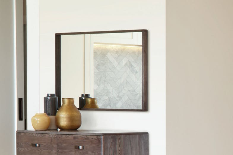 Melba Mirror by Woodpecker Furniture