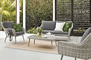 Retro 4 Piece Outdoor Lounge Setting