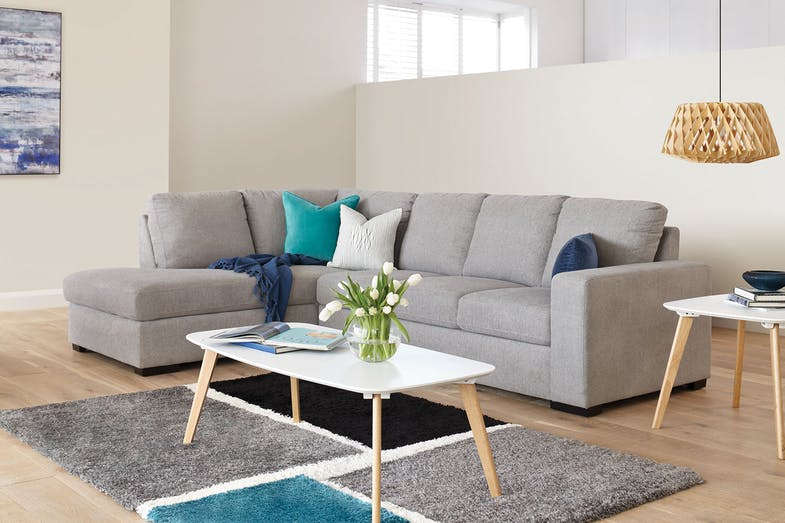 Neptune 4 Seater Fabric Sofa with Chaise