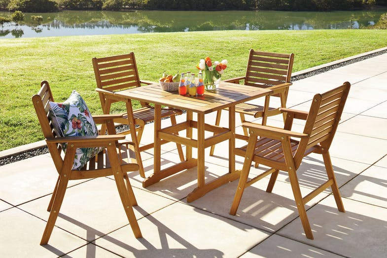 Bali 5 Piece Square Outdoor Dining Setting