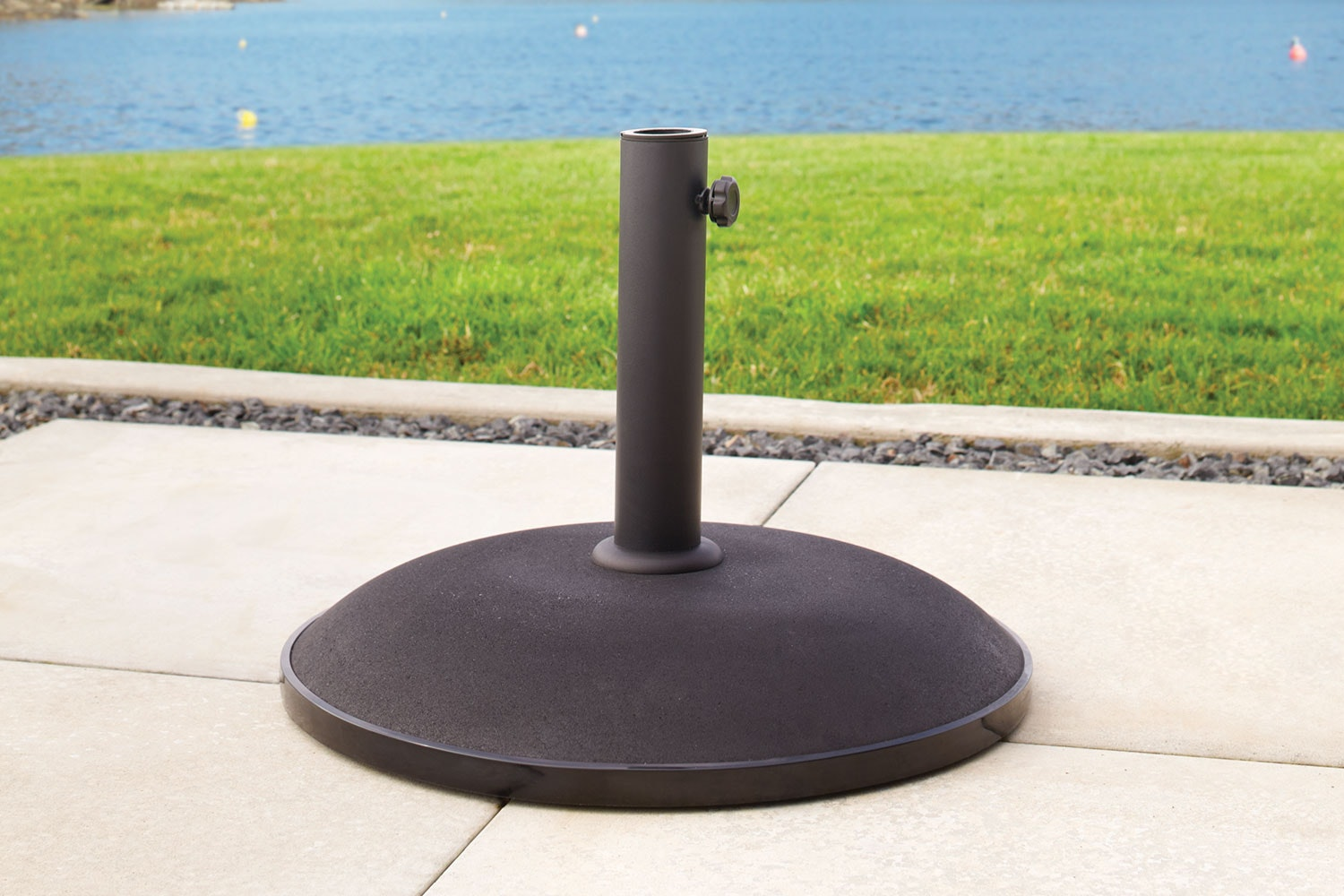 25kg Black Concrete Umbrella Base by Peros