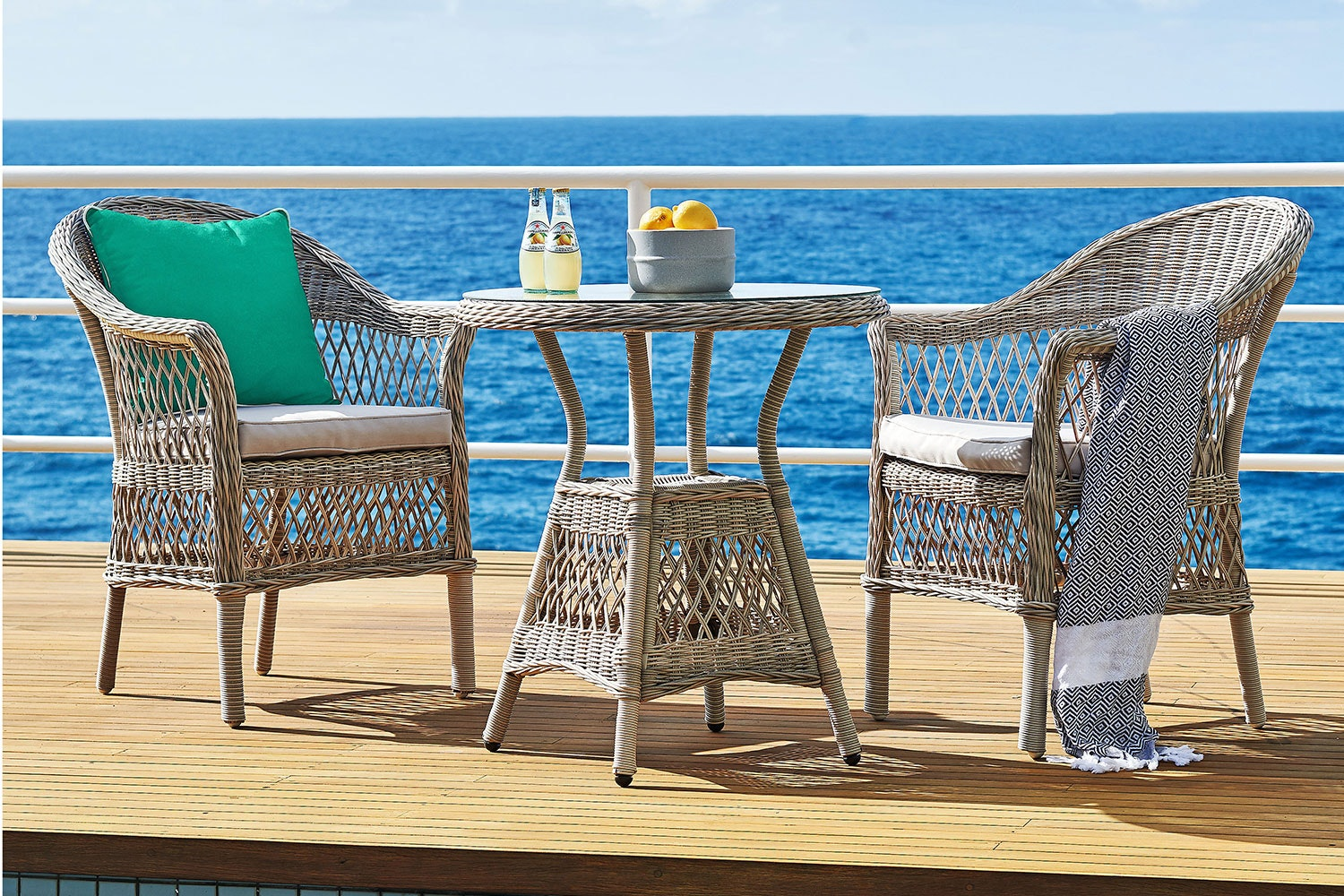 Burton 3 Piece Outdoor Dining Setting