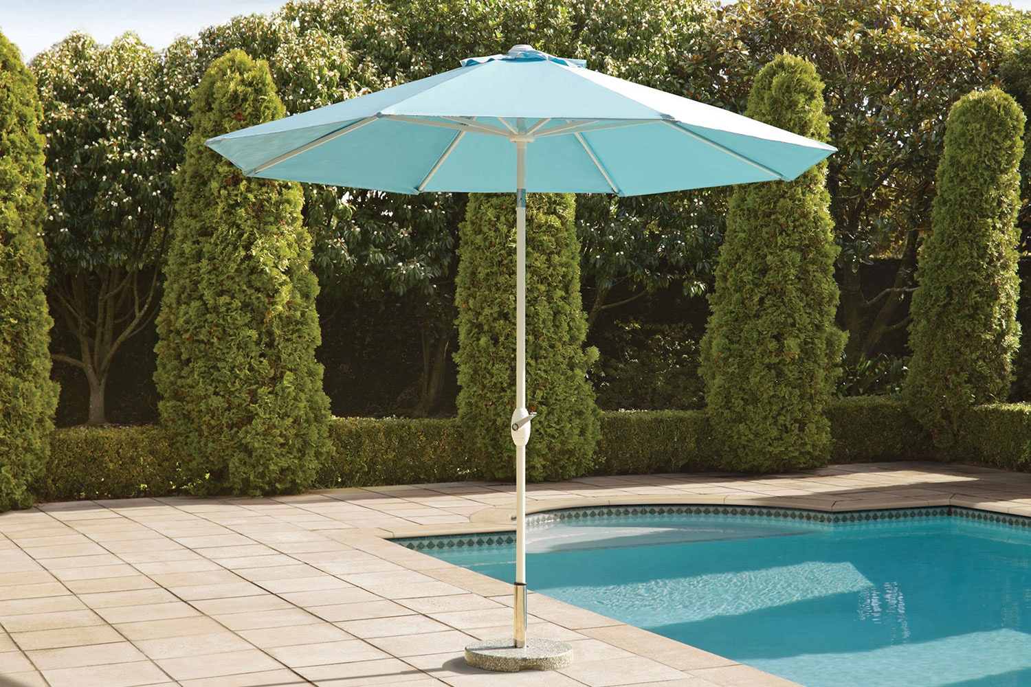 Florida Blue 2.7m Outdoor Umbrella by Peros