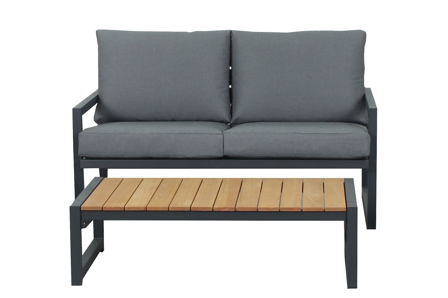 Catalina 4 Piece Outdoor Lounge Setting - 2 Seater Sofa