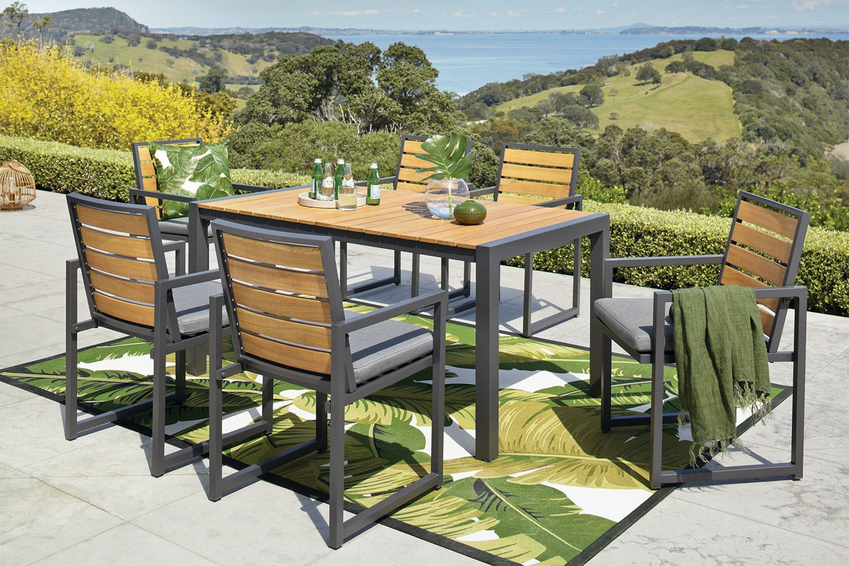 Catalina 7 Piece Outdoor Dining Setting Harvey Norman New Zealand
