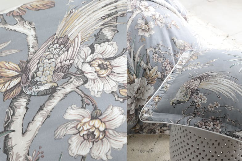 Woodbridge Dove Duvet Cover Set by Private Collection - Detail