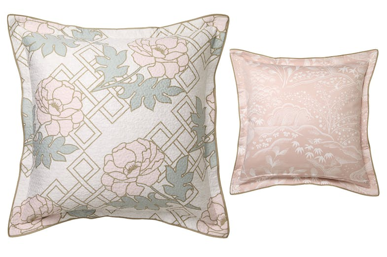 Floral Trellis Blush European Pillowcase