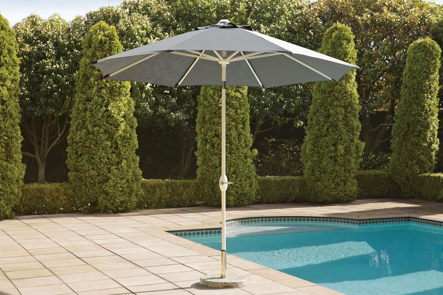 Florida Grey 2.7m Outdoor Umbrella by Peros