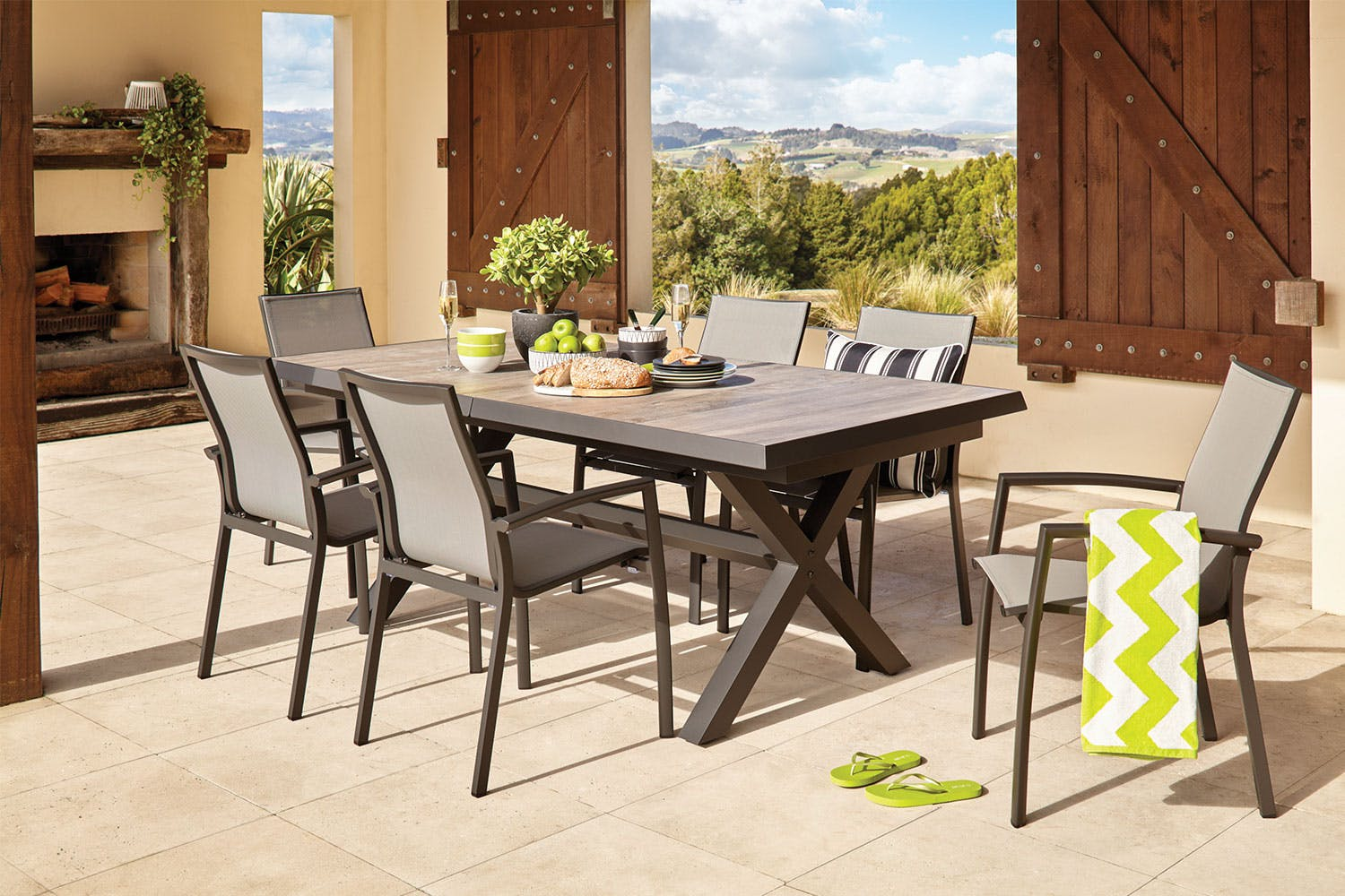 Parsons 9 piece outdoor dining setting harvey norman new zealand
