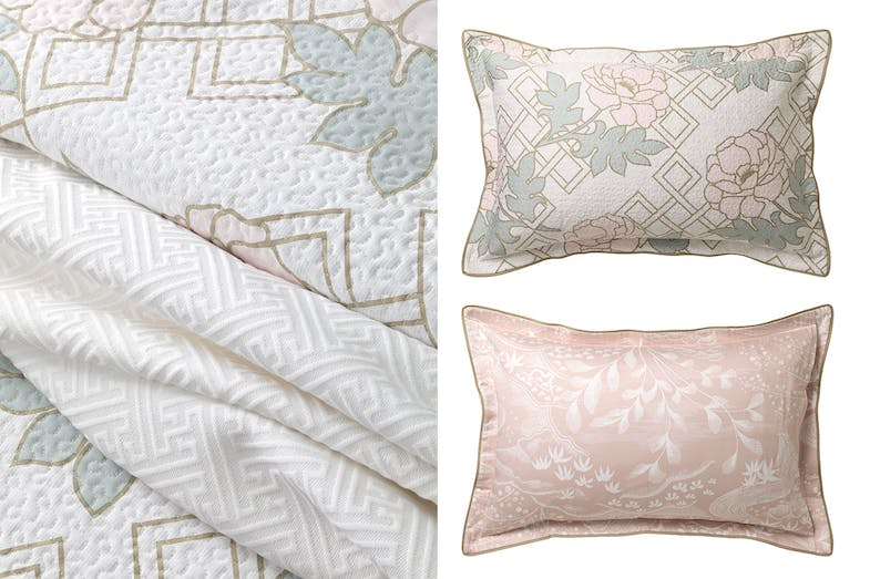 Floral Trellis Blush Pillowcase