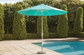 Florida Teal 2.7m Outdoor Umbrella by Peros