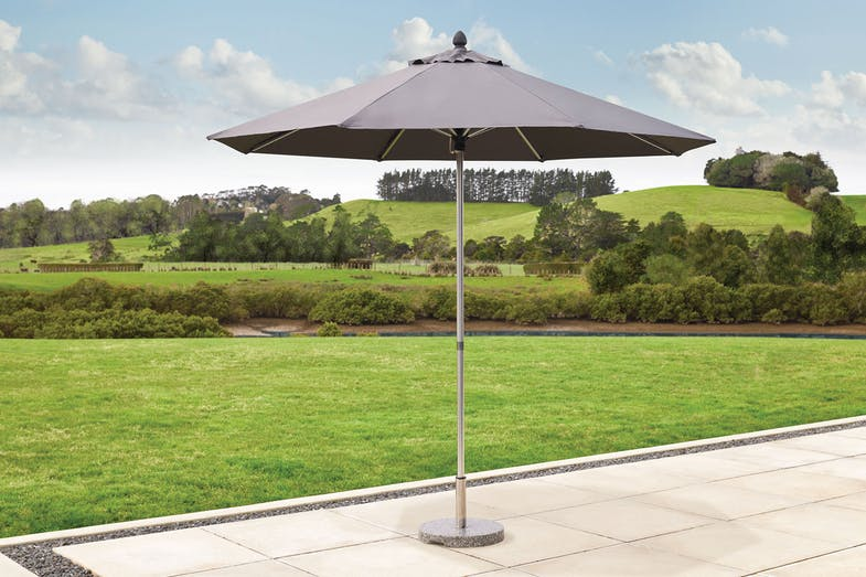 Triton 2.7m Outdoor Umbrella - Grey - Peros