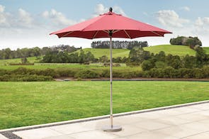 Triton 2.7m Outdoor Umbrella with Base - Bordeux - Peros