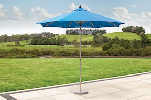 Triton 2.7m Outdoor Umbrella with Base - Navy Blue - Peros