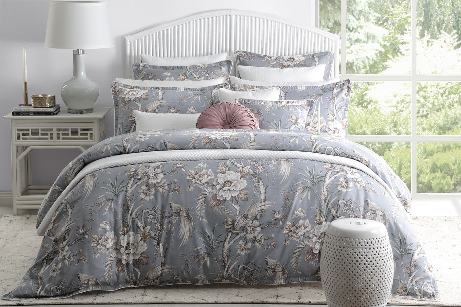 Woodbridge Dove Duvet Cover Set by Private Collection