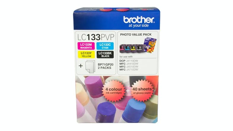 Brother LC-133PVP Colour Ink Cartridges - Value Pack