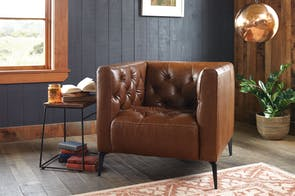 Canelli Leather Armchair by Debonaire Furniture