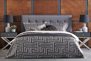 Christo Pewter Duvet Cover Set by Da Vinci