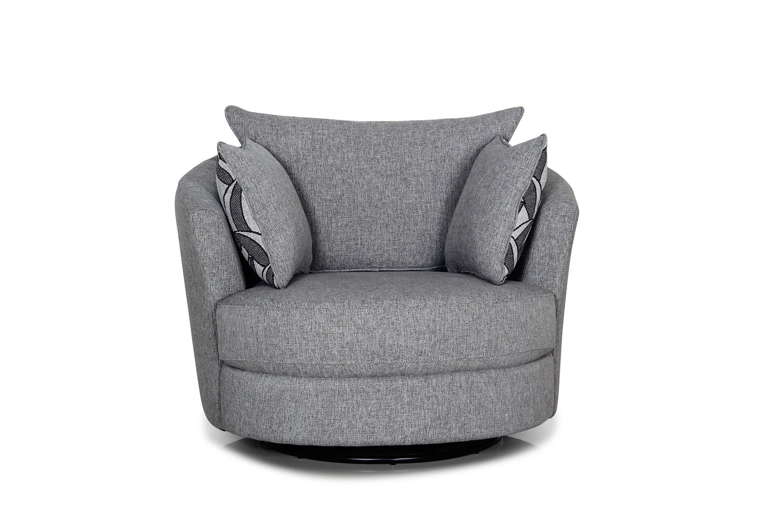 Greystone Small Fabric Swivel Chair