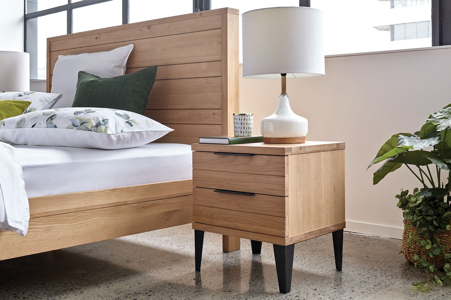 Manhattan Bedside Table by Morgan Furniture