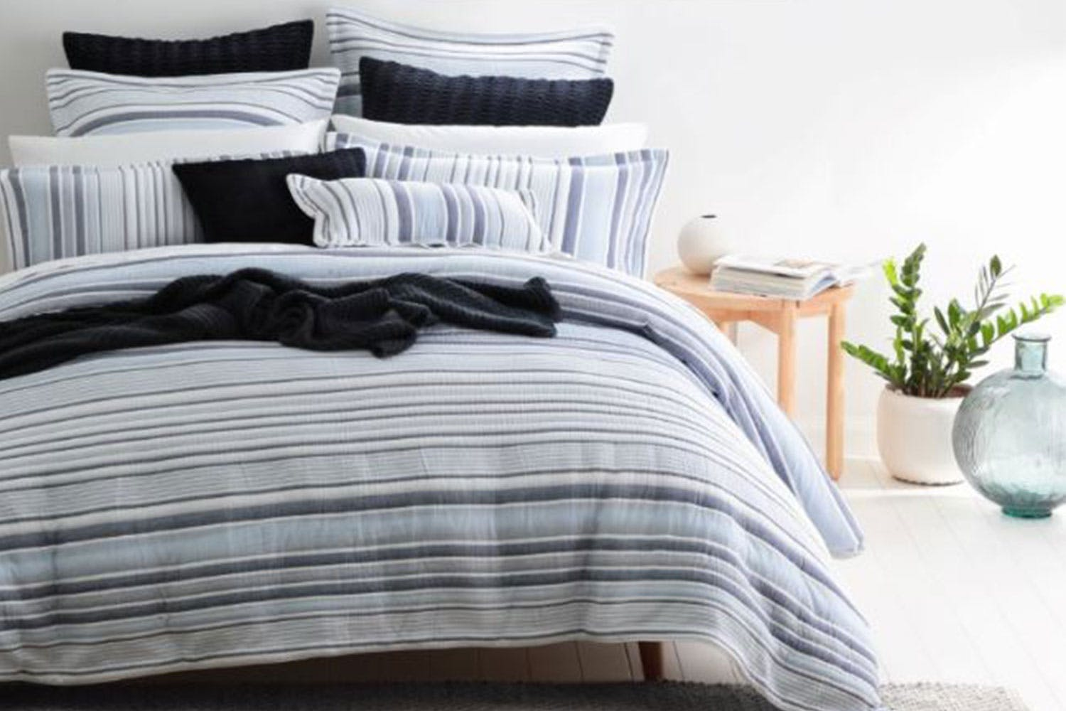 Orson blue duvet cover set by private collection