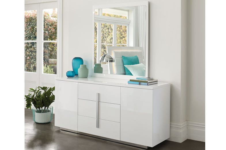 Quadro Dresser and Mirror by Insato Furniture