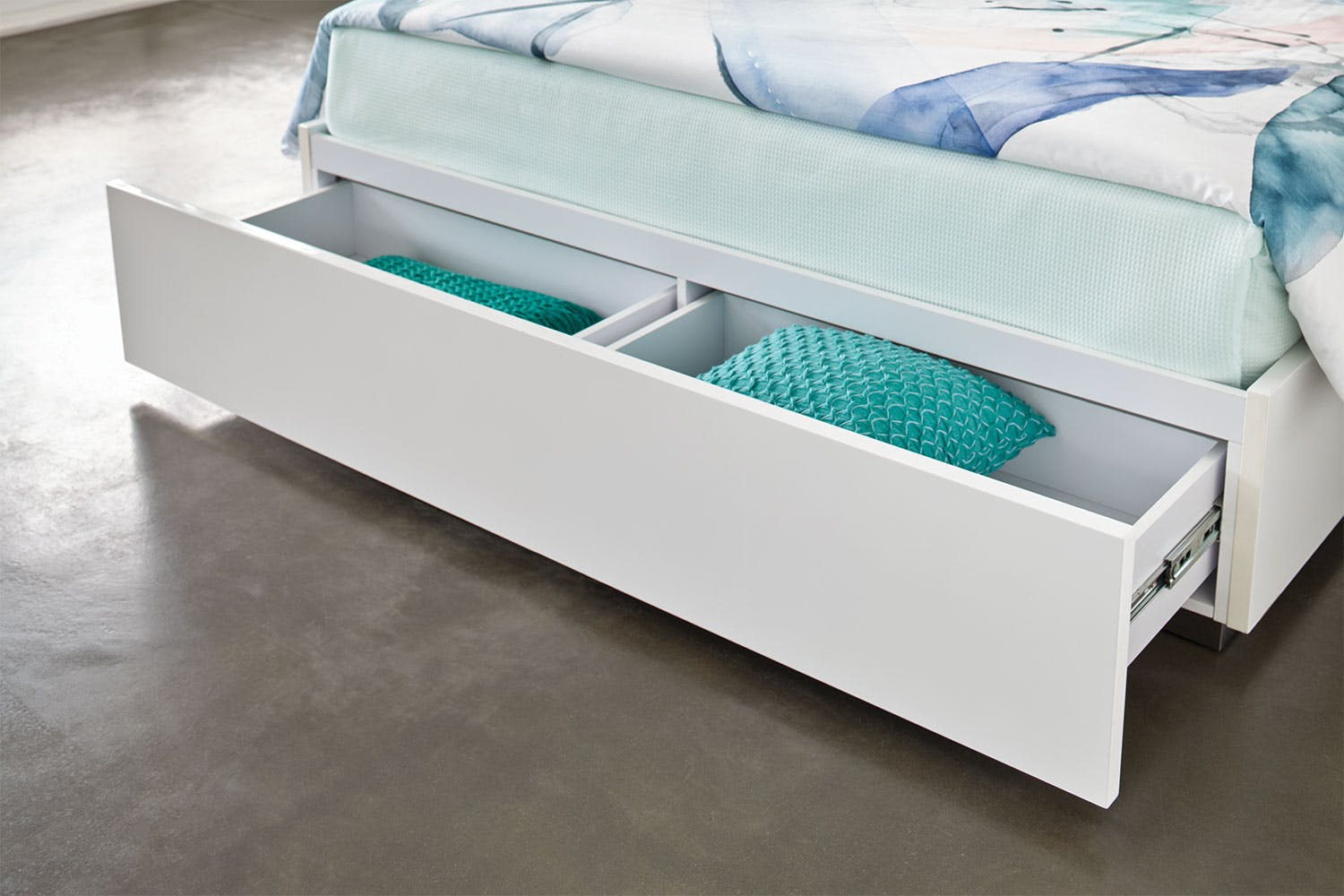 Quadro Queen Bed Frame by Insato Furniture | Harvey Norman New Zealand