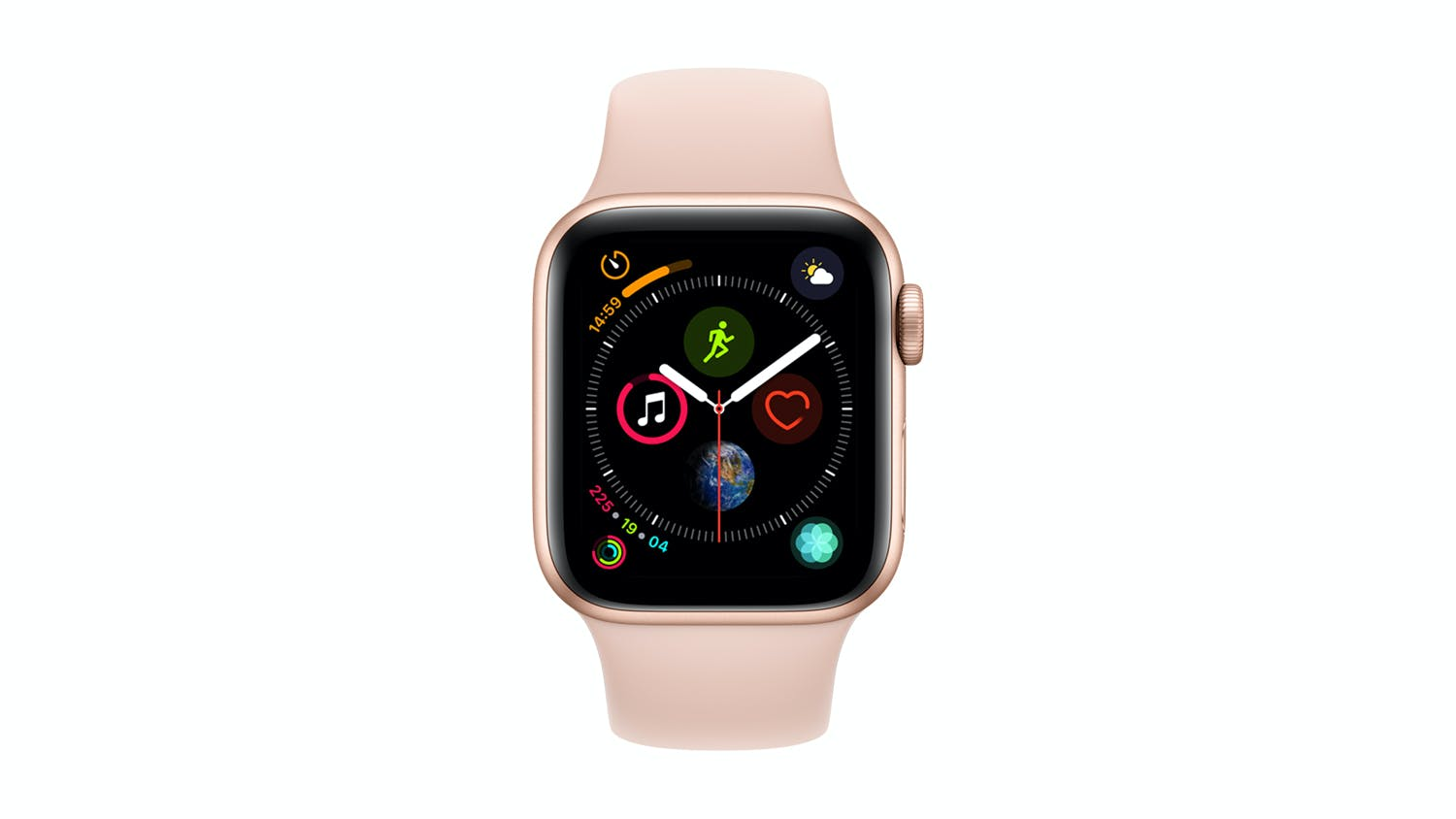new style 4c364 5c03e Apple Watch Series 4 (GPS) 40mm Gold + Pink Sand Sport Band