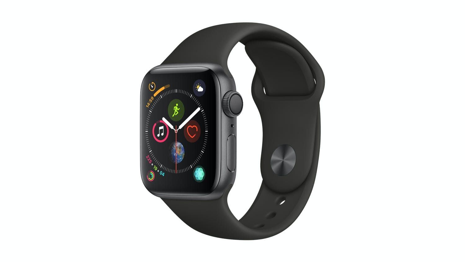 new concept 61302 7c017 Apple Watch Series 4 (GPS) 40mm Space Grey + Black Sport Band
