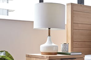 Zeally Vanilla Table Lamp by Shady Lady