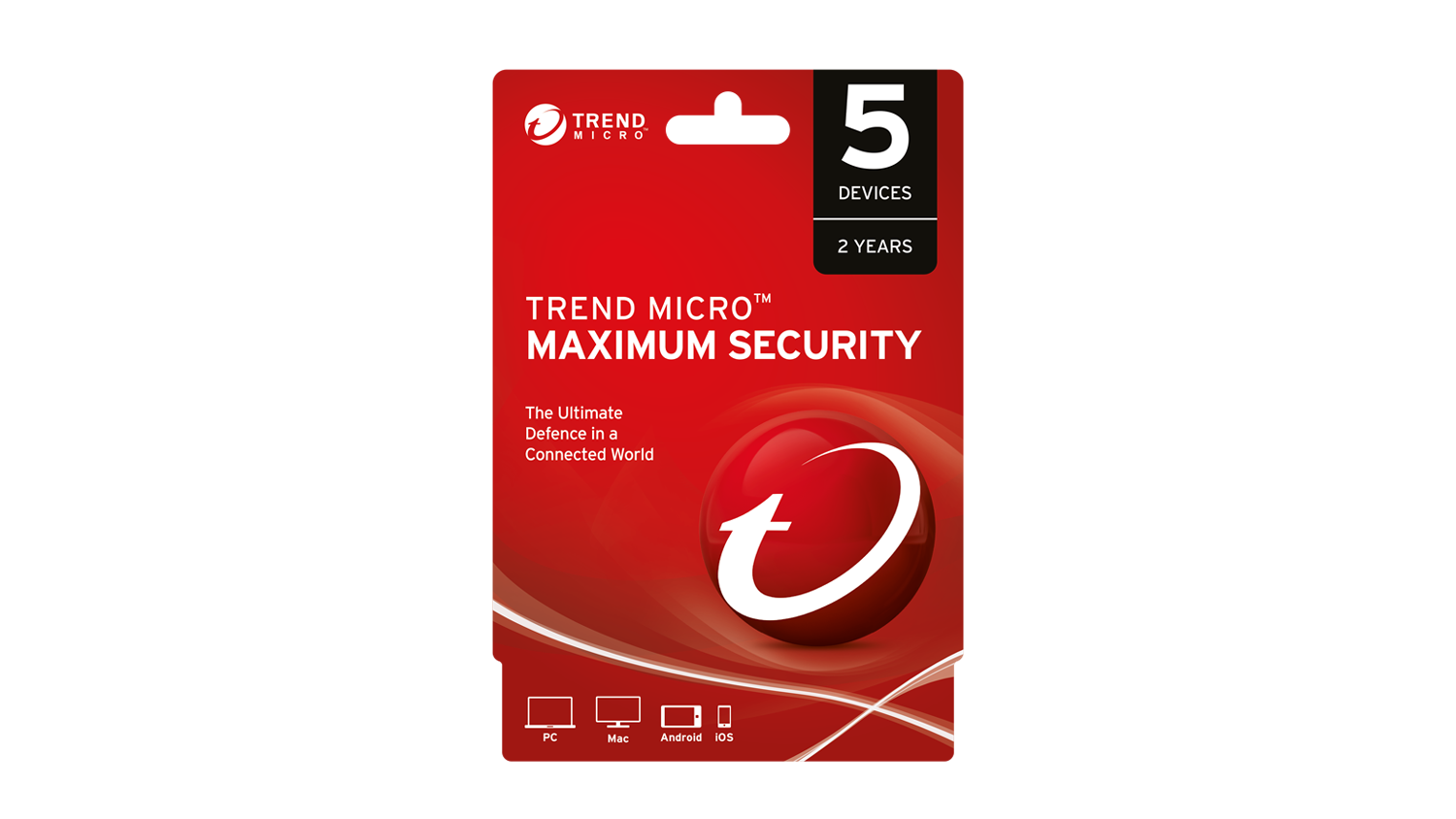 Trend Micro Maximum Security - 5 Devices 24 Months