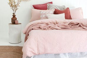 Kokomo Rosewater Duvet Cover Set by Bambury