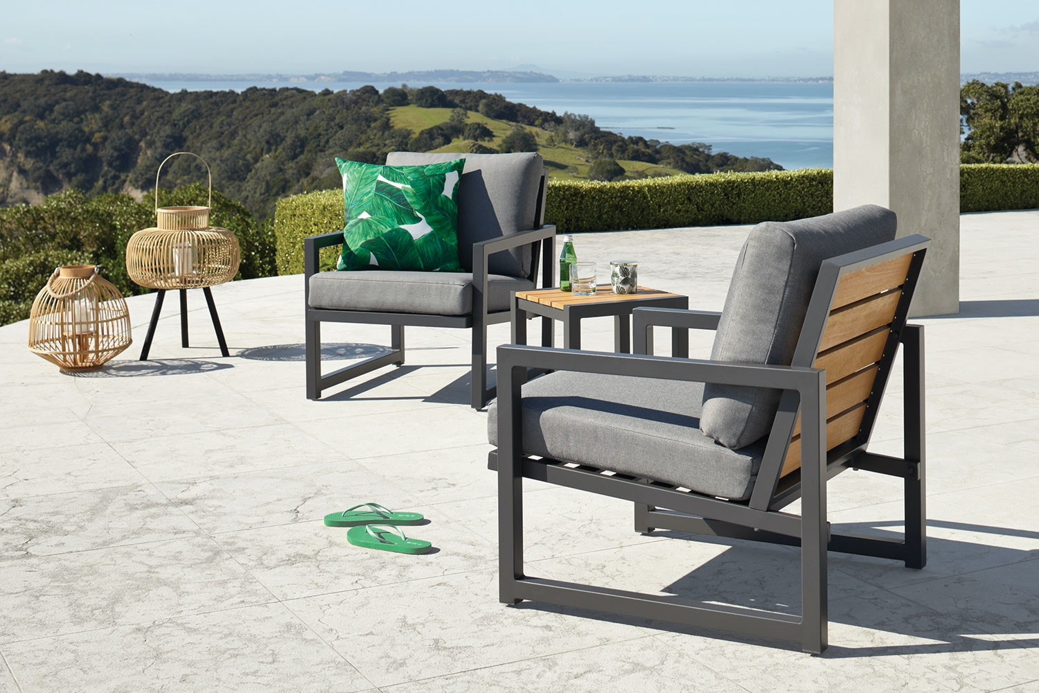 Catalina 3 Piece Outdoor Lounge Setting