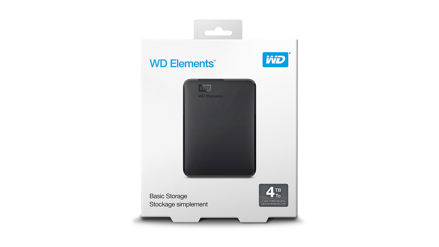 WD Elements USB 3.0 Portable Hard Drive - Box front view