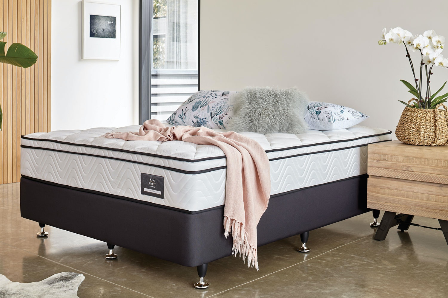 Viva Medium Long Single Bed by King Koil