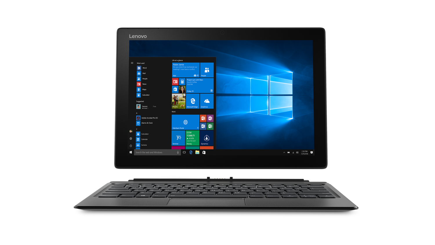 "Lenovo Miix 520 i5- 8250U 12.2"" 2-in-1 Laptop (front)"