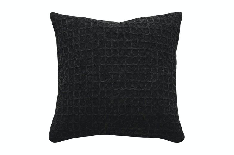 Arthur Square Cushion by Furtex - Black