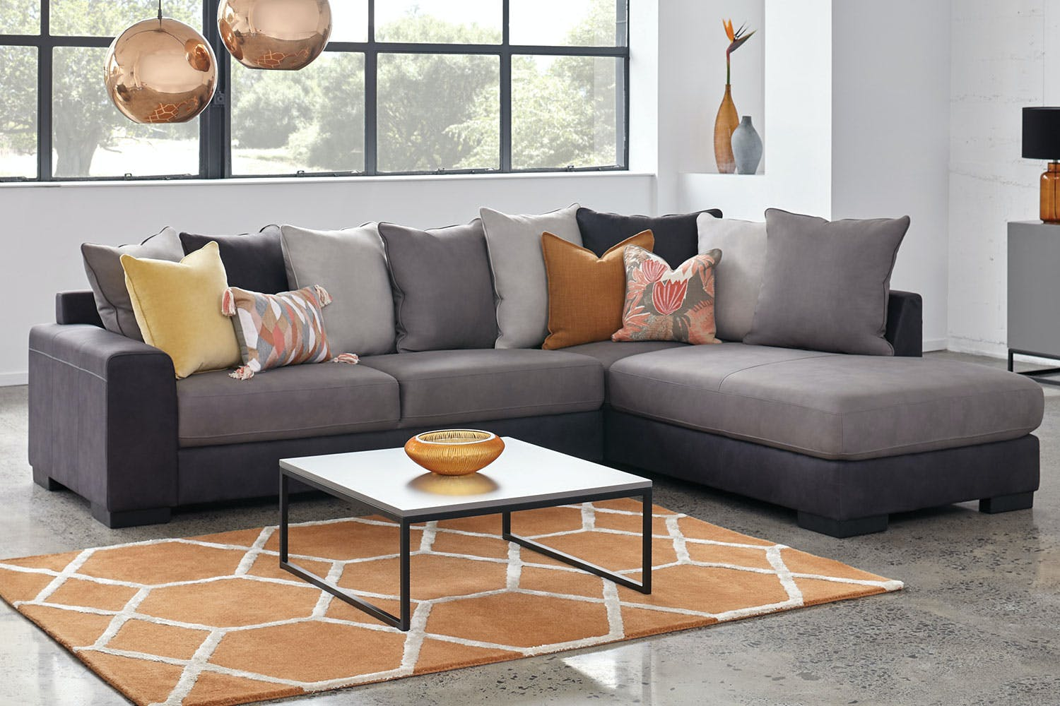 Atlanta 3 Seater Fabric Sofa With Chaise