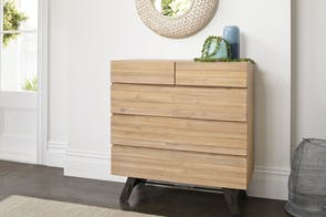 Bari 5 Drawer Tallboy by John Young Furniture