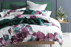 Breeze Plum Duvet Cover Set by Logan and Mason