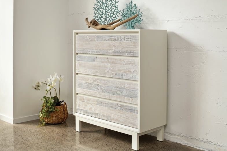 Coastal 4 Drawer Tallboy