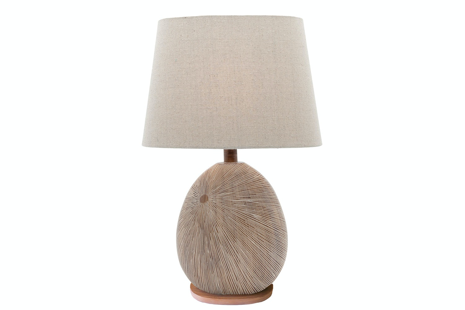 Delu Timber Table Lamp by Shady Lady