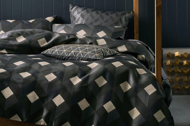 Everett Charcoal Duvet Cover Set by Savona