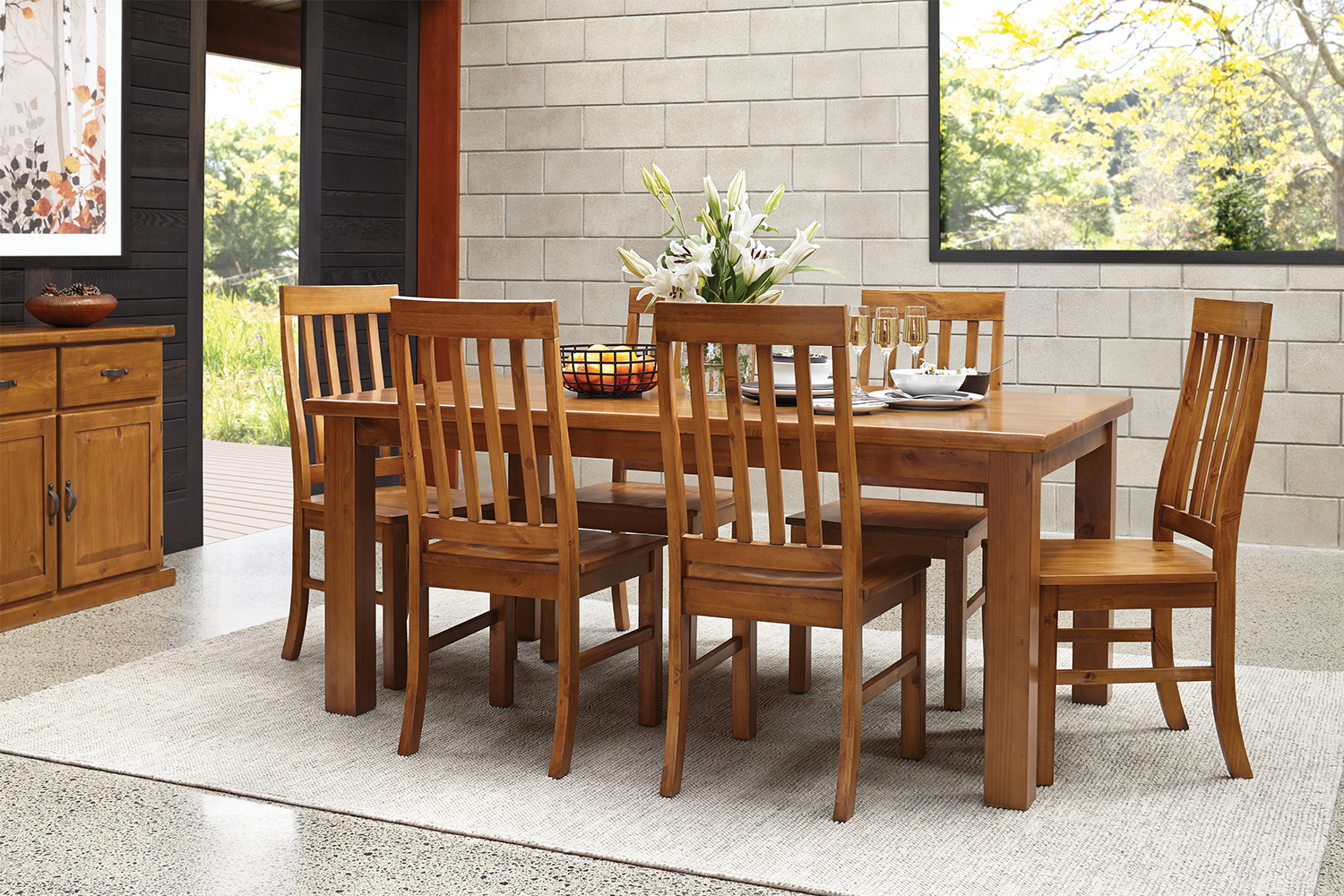 Palermo 7 Piece Dining Suite by Nero Furniture