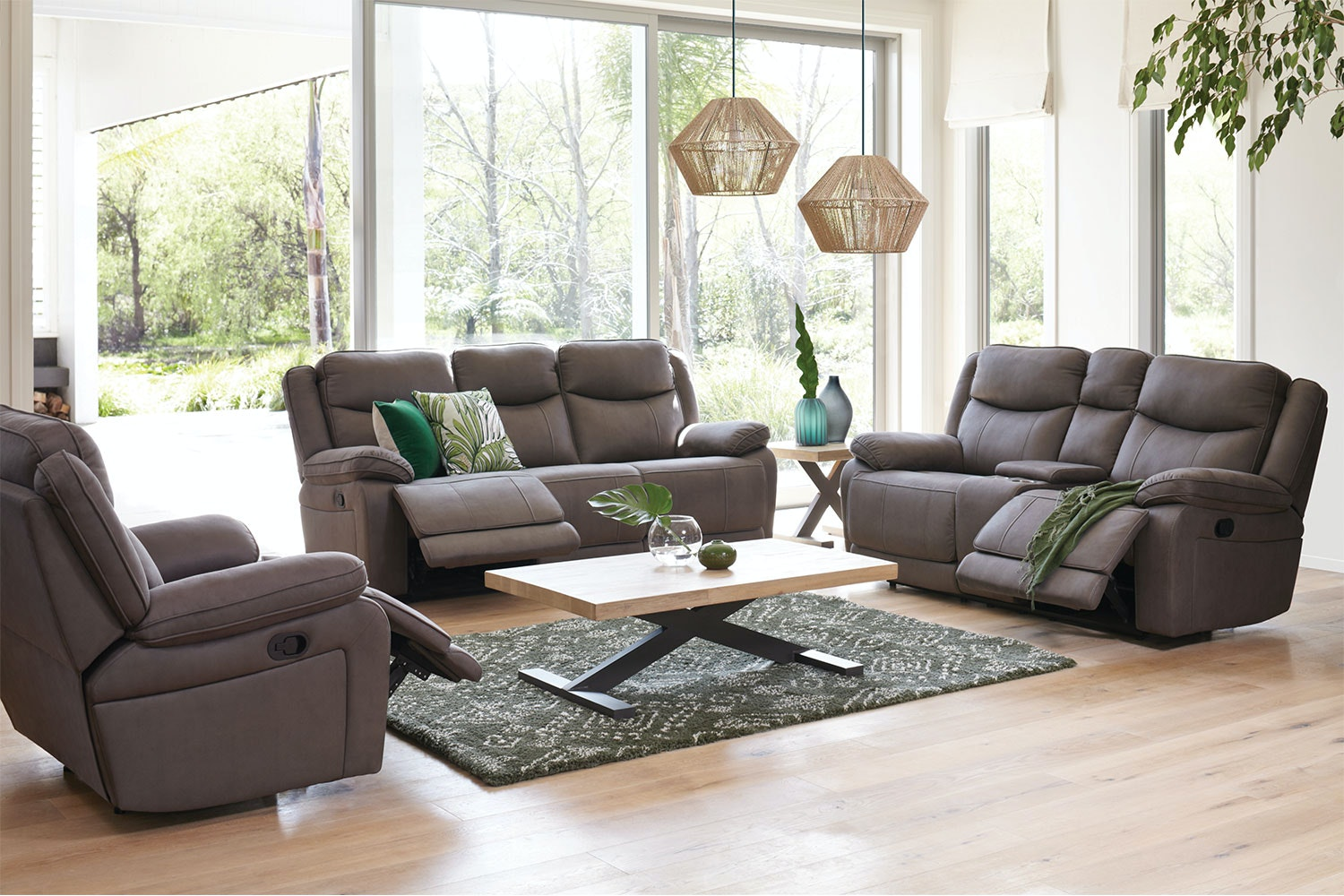 Pembroke 3 Piece Fabric Lounge Suite