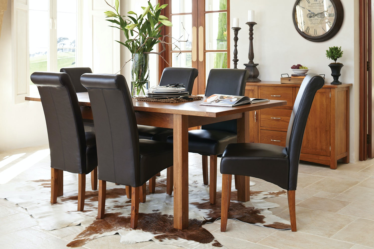 Trafalgar Aged Rimu 7 Piece Extension Dining Suite by Coastwood Furniture