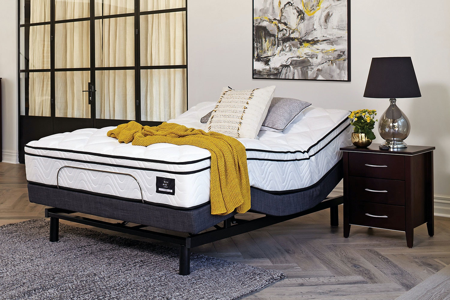 King Koil Viva Medium Queen Mattress with Lifestyle Adjustable Base by Tempur
