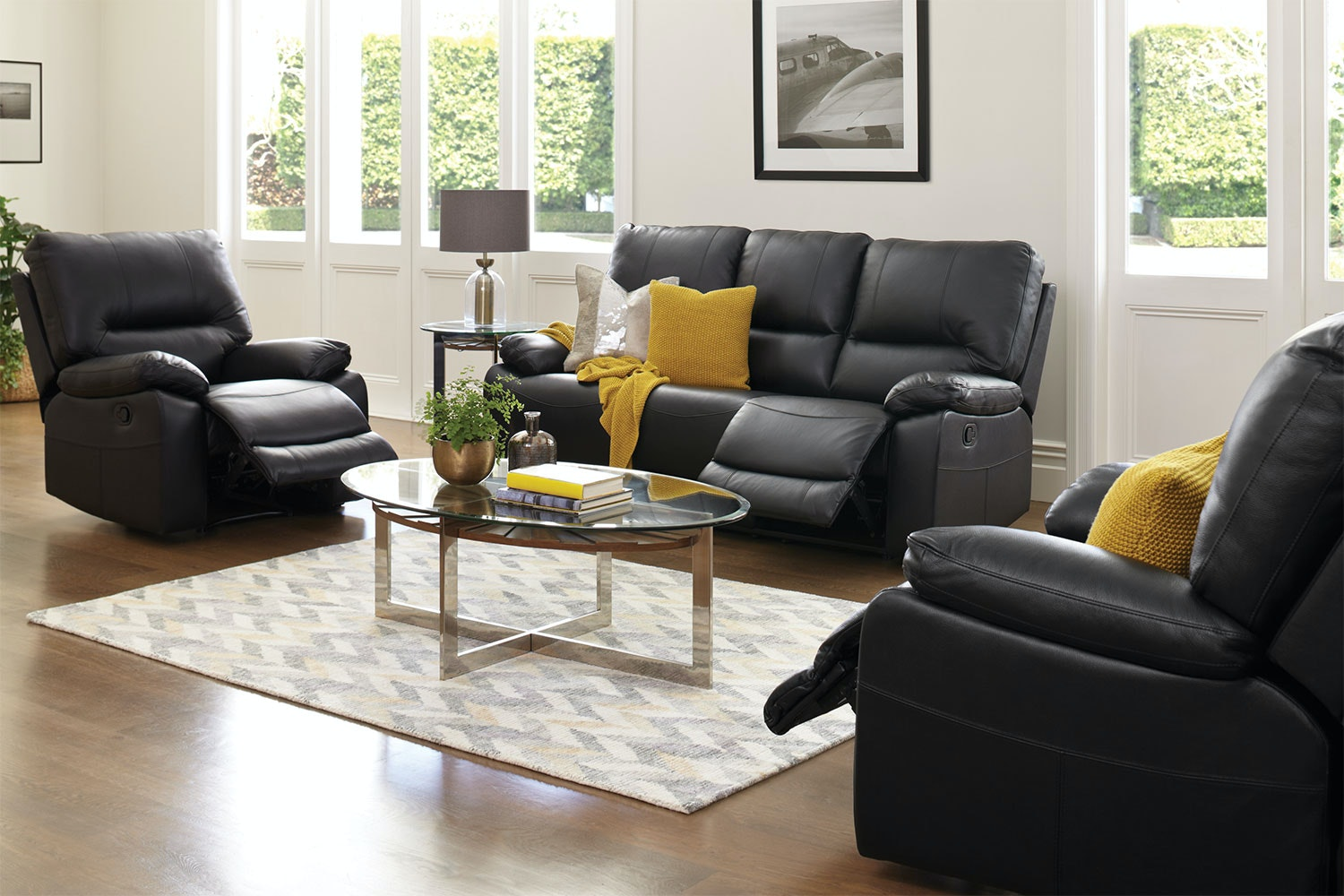 Waterford 3 Piece Leather Lounge Suite