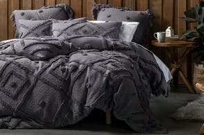 Adalyn Charcoal Duvet Cover Set by Savona